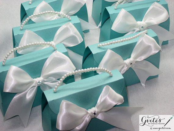 Large Tiffany Blue Favor Wedding Breakfast at Tiffany's by Gvites, $105.00