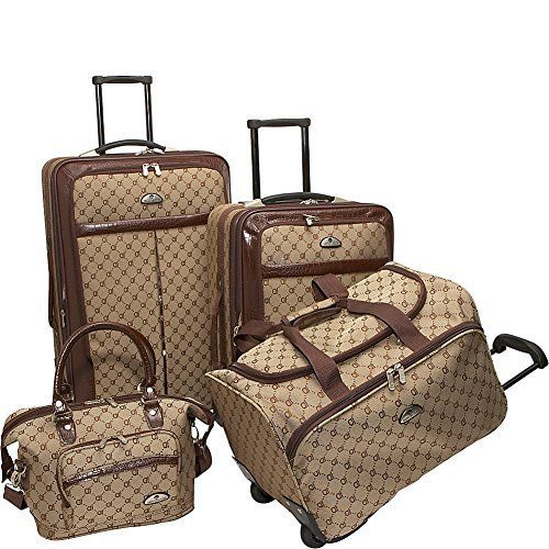 New Trending Luggage: American Flyer Luggage Signature 4 Piece Set, Brown, One Size. American Flyer Luggage Signature 4 Piece Set, Brown, One Size  Special Offer: Too low to display  355 Reviews For over 30 years, American Flyer luggage has been designing baggage that is classic, innovative and fashion forward, while being durable and practical American Flyer signature...