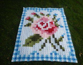 La Vie en Rose Afghan with Border Crochet от AppleBlossomDreams