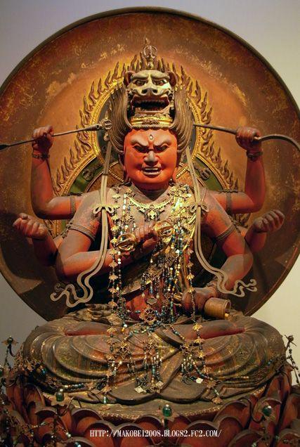 愛染明王坐像 鎌倉末 重要文化財 東京国立博物館 本館