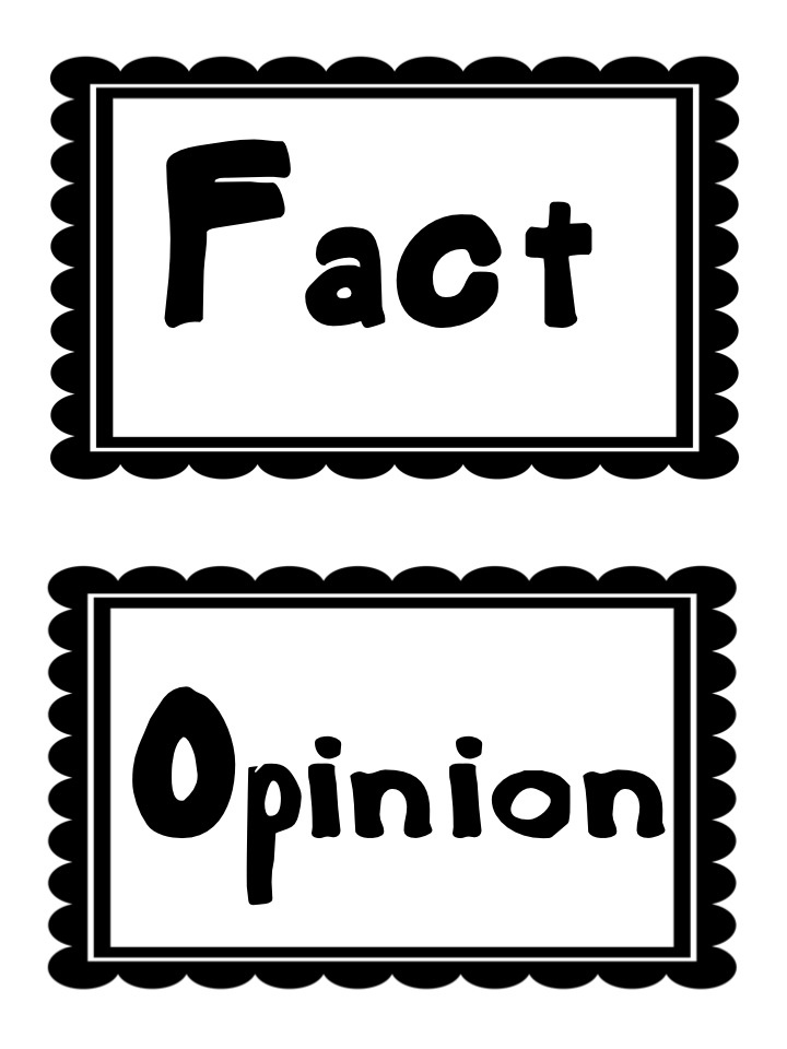 Fact and Opinion Writing