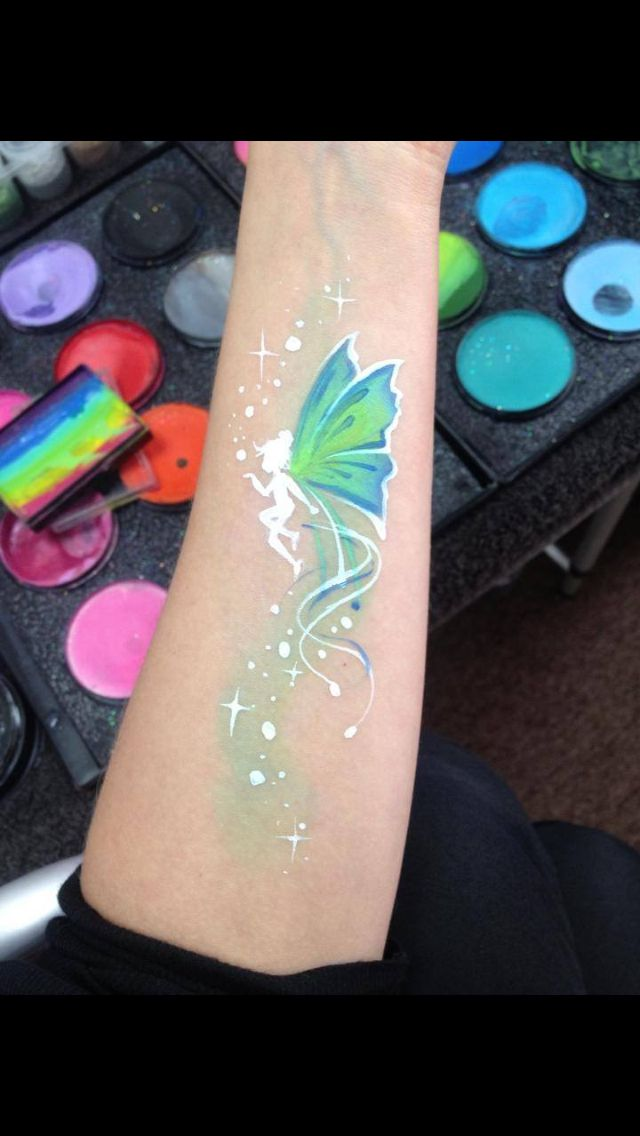 Lisa Joy Young inspired, really need to buy a fairy stencil.