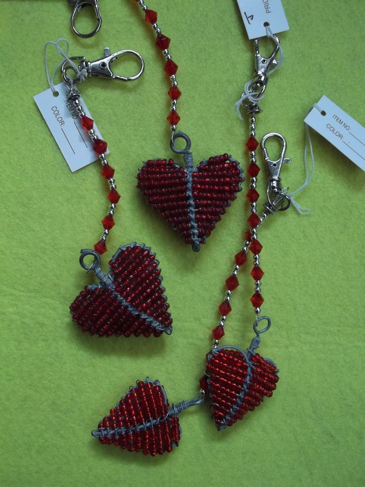 """Craft at Fourways """"One of a Kind""""beaded key chain"""