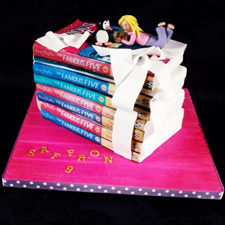 A stack of Famous Five books form one delicious cake ...