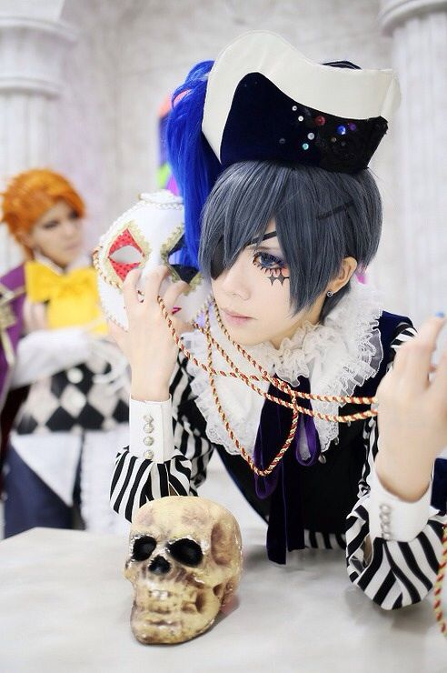 Black butler smile, book of circus cosplay, he looks so done