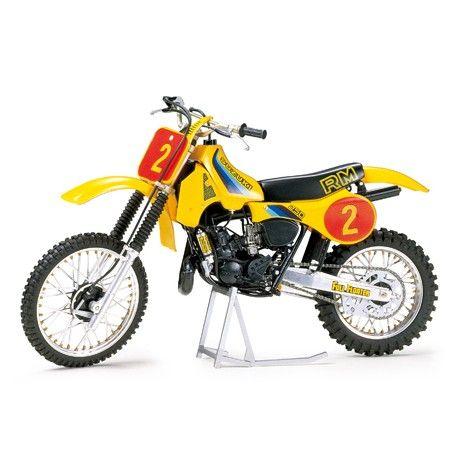 The Tamiya Suzuki Motocross Motorcylcle Model Kit From Plastic Motorcycle Kits Range Accurately Recreates Real Life Bike
