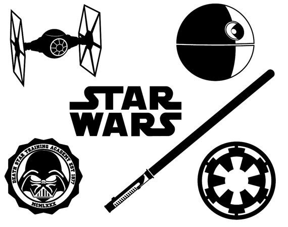 Star Wars dxf svg eps png file for use with your Silhouette Studio Software