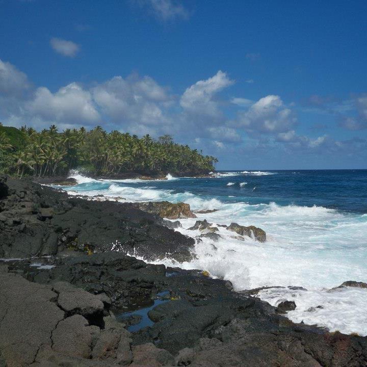 Big Island Beaches: Kalapana Black Sand Beach, Big Island