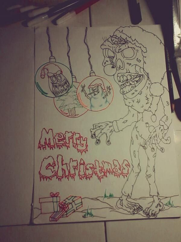 #old #sketch #christmas #horror #draw #art