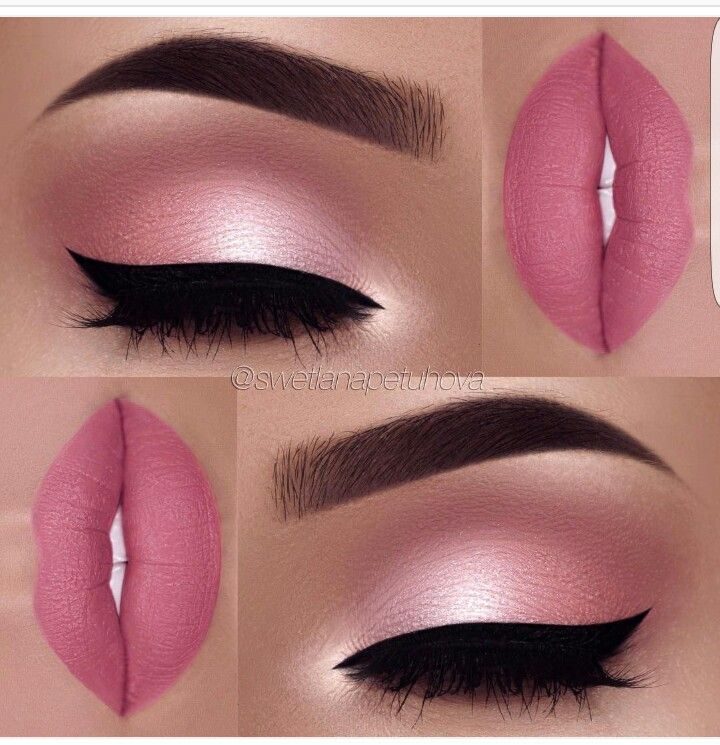 Pink, pink and more pink. Who wouldn't like that look! Pretty in pink! #pinkeyeshadows #pinklipsart