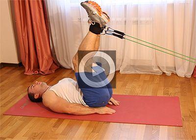 Упражнения с эспандером для мышц пресса
