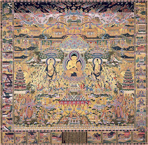 當麻曼荼羅 | 當麻寺 中之坊と伽藍堂塔 -奈良県 葛城市-