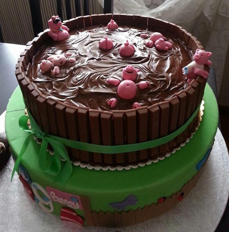 Maialini nel fango, una #torta spettacolare!