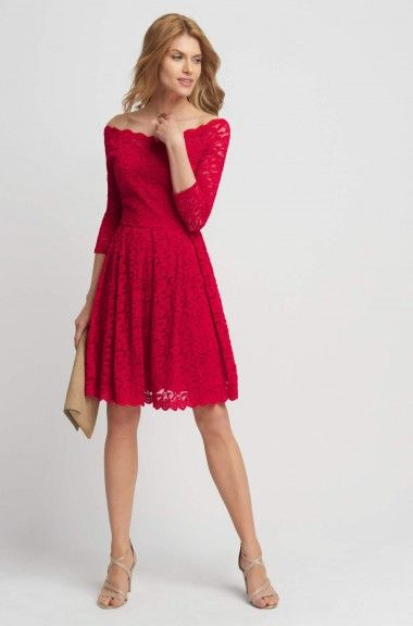Krajkové šaty s dekoltem Carmen | ORSAY