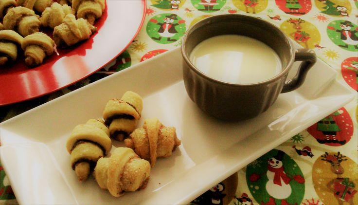 Enroladinhos (rugelach) de açúcar & canela + Nutella