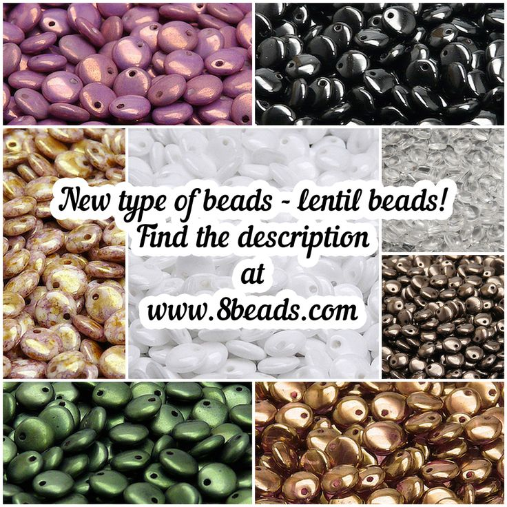Czech pressed Lentil beads with one hole. Size 6mm.