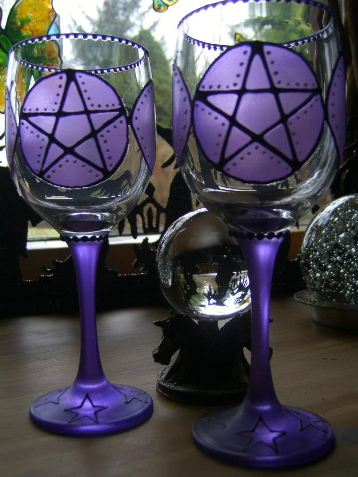 Magickal Ritual Sacred Tools:  Pentacle #chalices.