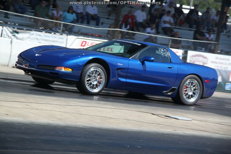Blue C5 Corvette Z06 drag racing at @Holley Performance #LSFest 2012