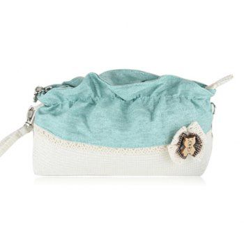 New Arrival Color Matching and Lacework Design Cosmetic Bag For Women