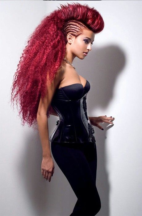 Braided Mohawk in Corset. I love this look!