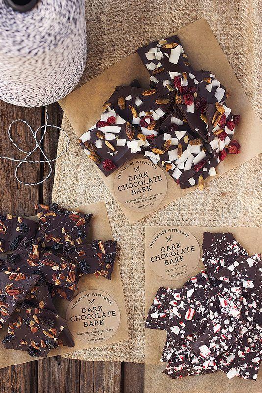 Éclats de chocolat à offrir en cadeau