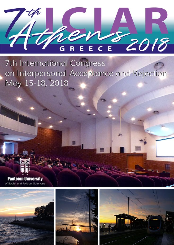 Athens is an excellent setting to discuss the current progress, development, new concepts, and advances in the field of interpersonal acceptance and rejection. 7th International Congress on Interpersonal Acceptance Rejection (7th ICIAR) at Panteion University of Social and Political Sciences, Department of Psychology. http://isipar2018athens.panteion.gr/