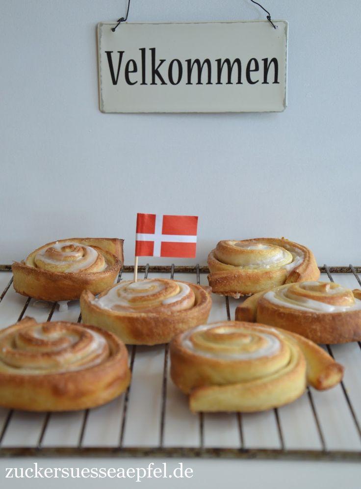 Heute habe ich Euch wieder etwas ganz leckeres mitgebracht, ein original Rezept für dänische Zimtschnecken .         Die Dänen  lieben es ...