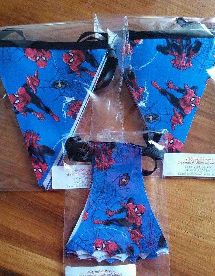 Pink Milk & Peonies - Spider-Man Party Bunting @pink_milk_and_peonies
