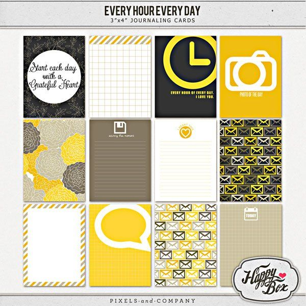 Every Hour Every Day Free Journaling Card set for Project Life | [ One Velvet Morning ]