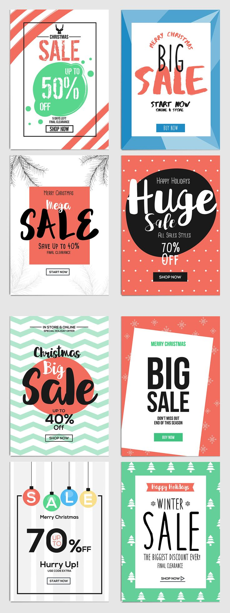 Set of Christmas Sale Flyer Template by Creative Graphics on @creativemarket