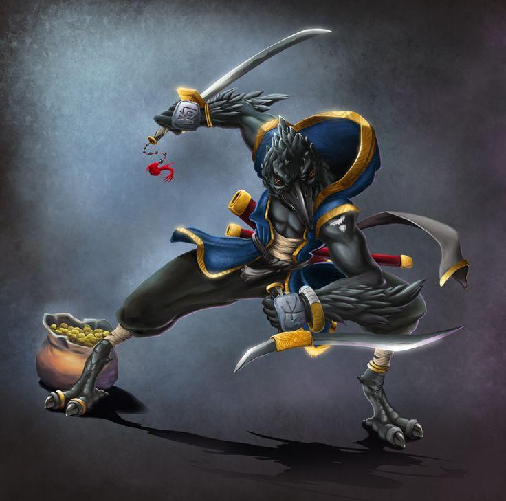 Aqui está Yükai el Tengu, mi personaje para Pathfinder ^^