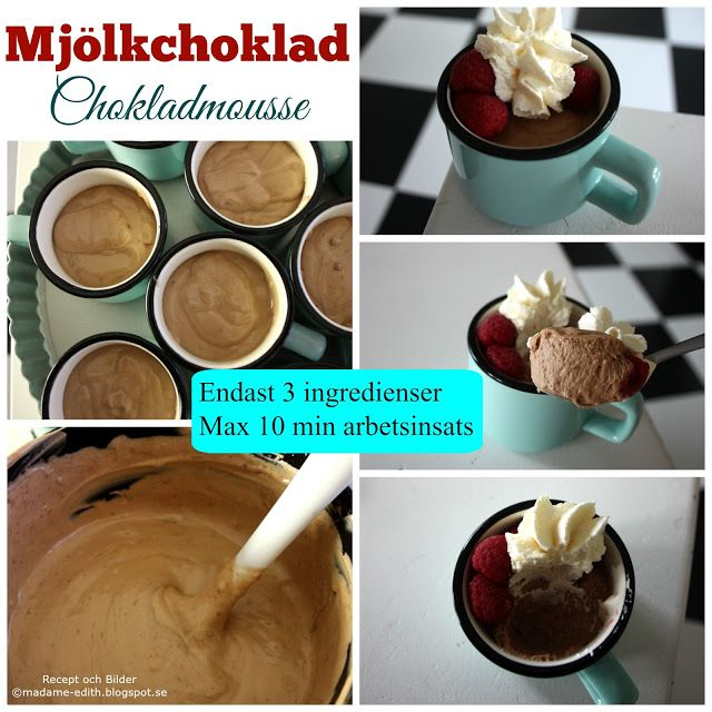 Madame Edith - Recept: Mjölkchokladmousse