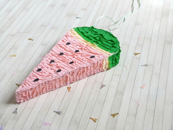 DIY Déco // La Piñata Pastèque  // La Fabrique Pailletée ♡