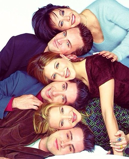 Monica Chandler Joey Ross Phoebe and Rachel Friends tv show