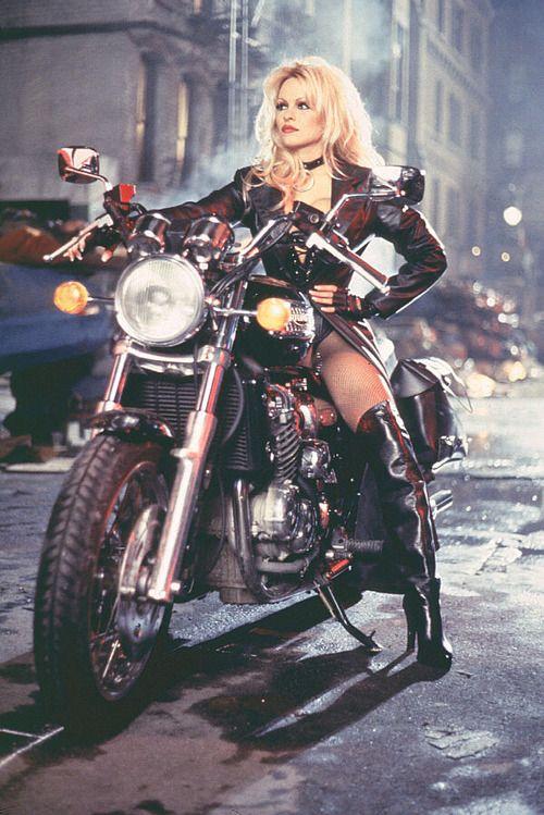 Comic Nude biker girl