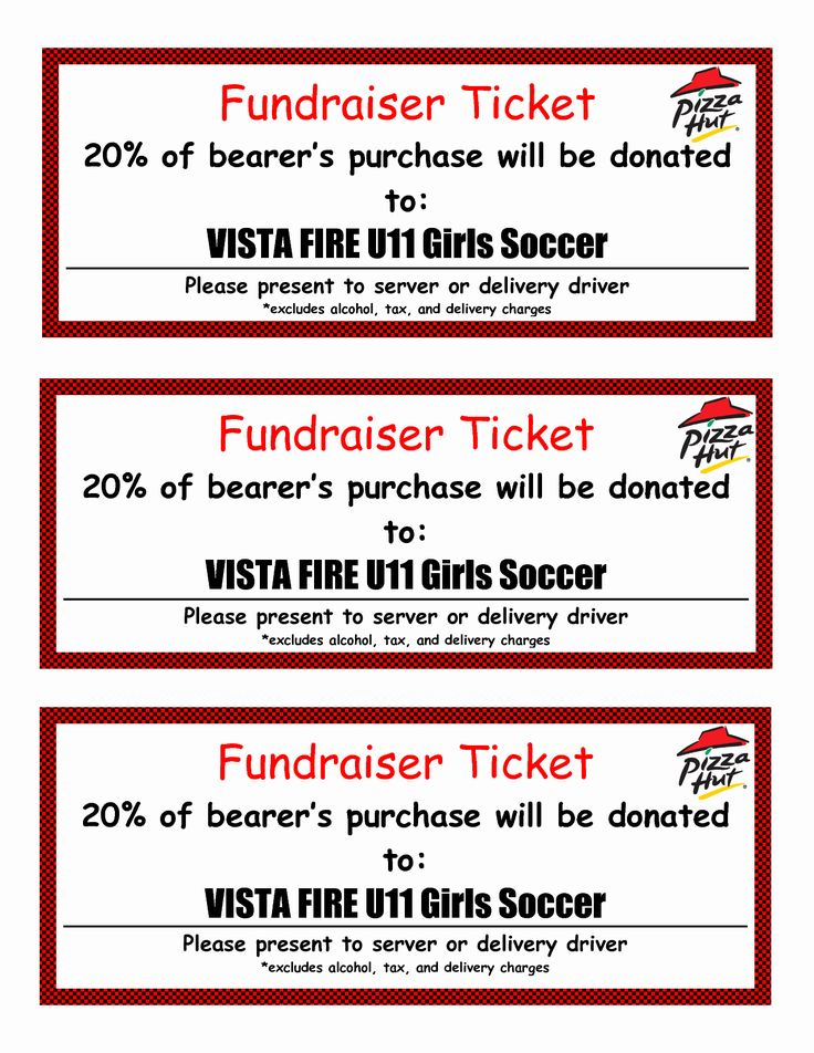 Free printable tickets template awesome fundraiser ticket