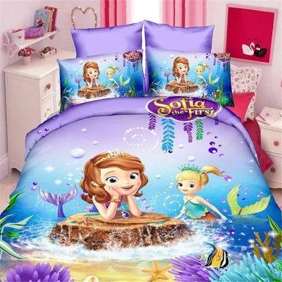 7 Variants Twin/Single Size 3D Children Cartoon Bedding Sets