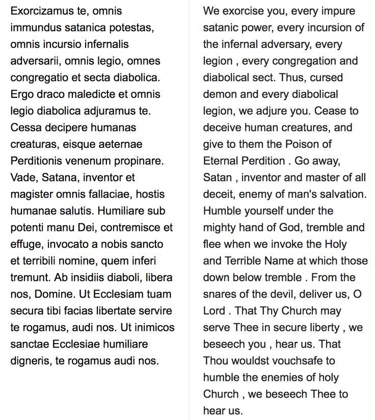 Exorcism prayer in Latin and English | Supernatural | Summoning