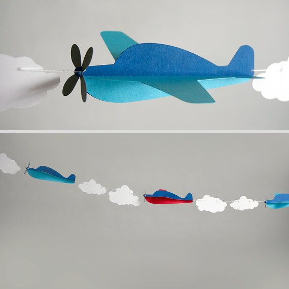 Airplane Garland Kit by EspeciallyPaper on Etsy