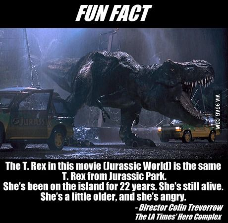 The more you know! The more you got to love about Jurassic world and park