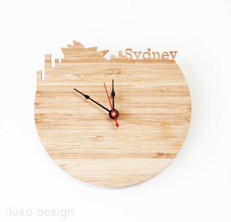 Sydney Modern Wall Clock by iluxo on Etsy