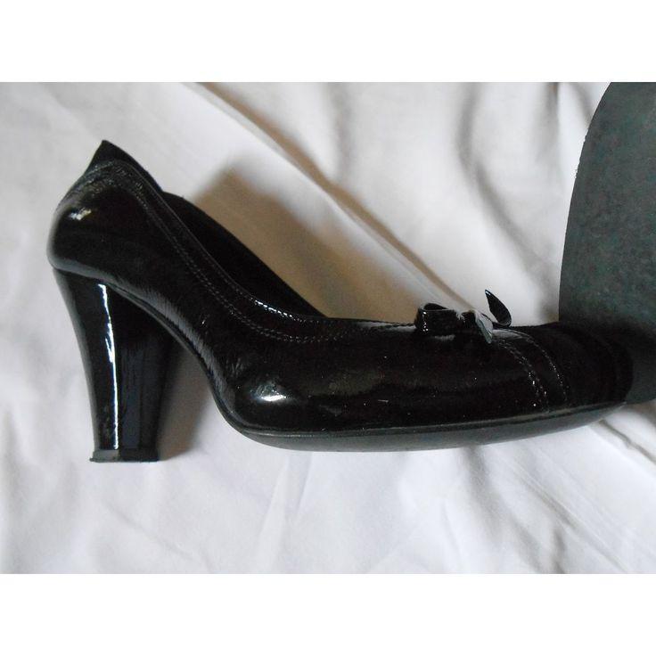 tronchetto donna scarpe firmate TEN scamosciato vernicate nere tacco 9 cm    eBay