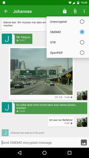 Conversations (Jabber / XMPP) v1.13.6   Conversations (Jabber / XMPP) v1.13.6Requirements:4.0Overview:Conversations is an open source Jabber / XMPP client for Android 4.0 smart phones.  Conversations is an open source Jabber / XMPP client for Android 4.0 smart phones.  Design principles  Be as beautiful and easy to use as possible without sacrificing security or privacy  Rely on existing well established protocols  Do not require a Google Account or specifically Google Cloud Messaging (GCM)…