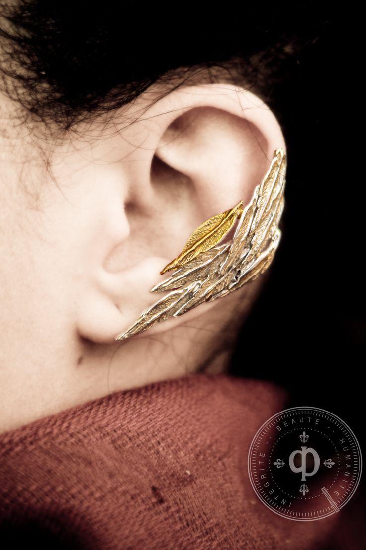 Feather Ear Cuff Earring By Desrochersstudio On Etsy, $6200