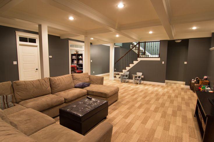 garage makeover tips and ideas - Open basement floor plan Basement ideas