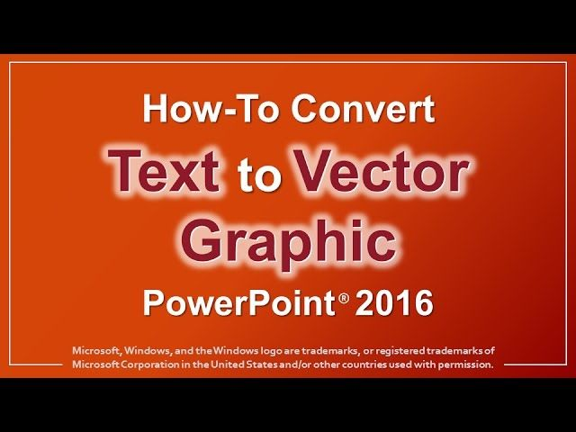 http://www.loalover.com/how-to-convert-text-to-vector-graphic-in-powerpoint-2016/ - How to Convert Text to Vector Graphic in PowerPoint 2016