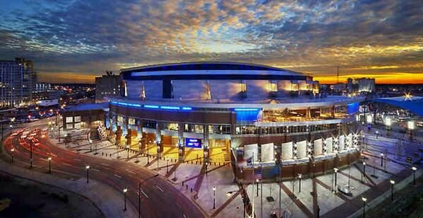 Time Warner Cable Arena, the new home of the Charlotte Hornets, known as The Hive