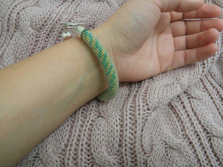 #beadedcrochetrope #beadedbracelet #bracelet
