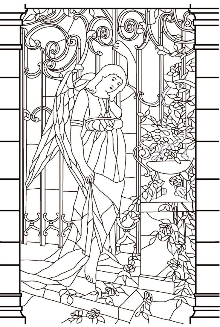 Free coloring page coloringvitrailmoyenage Drawing