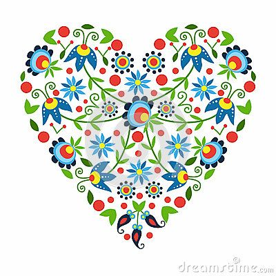 Polish Folk Heart - Download From Over 39 Million High Quality Stock Photos, Images, Vectors. Sign up for FREE today. Image: 65055215